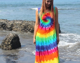 555cf9d0359 Tie Dye Maxi Dress Sizes Small through 3XL