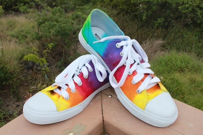 4414ab96614e5a Tie Dye Low Top Shoes Rainbow Converse Knock off SALE