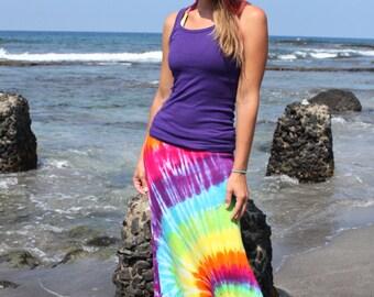 Tie Dye Maxi Skirt Sizes Small Through 3X