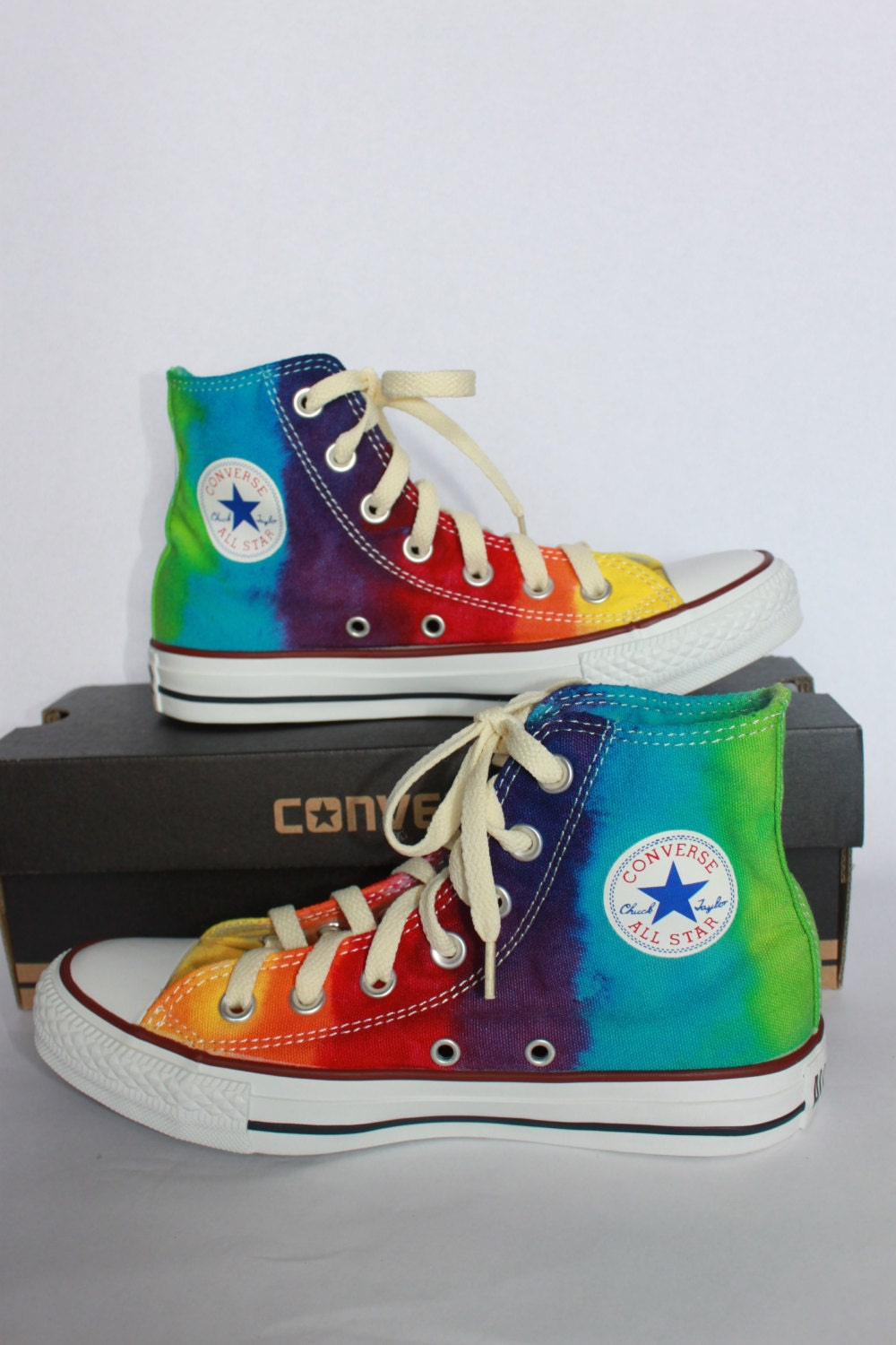 new product b3844 f1551 converse all star star star chuck taylor tie dye haut bas haut chaussures  sur mesure