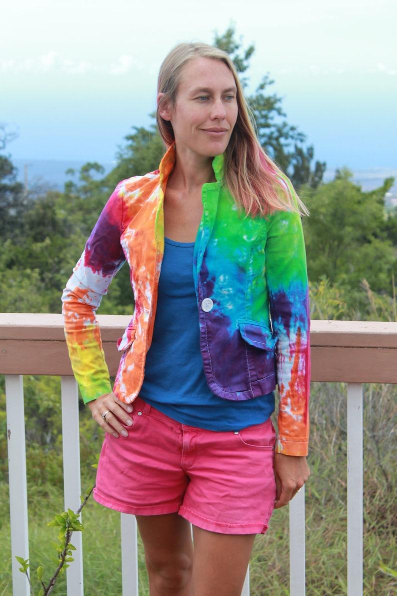 Tie Dye Jacket Size XS Upcycled