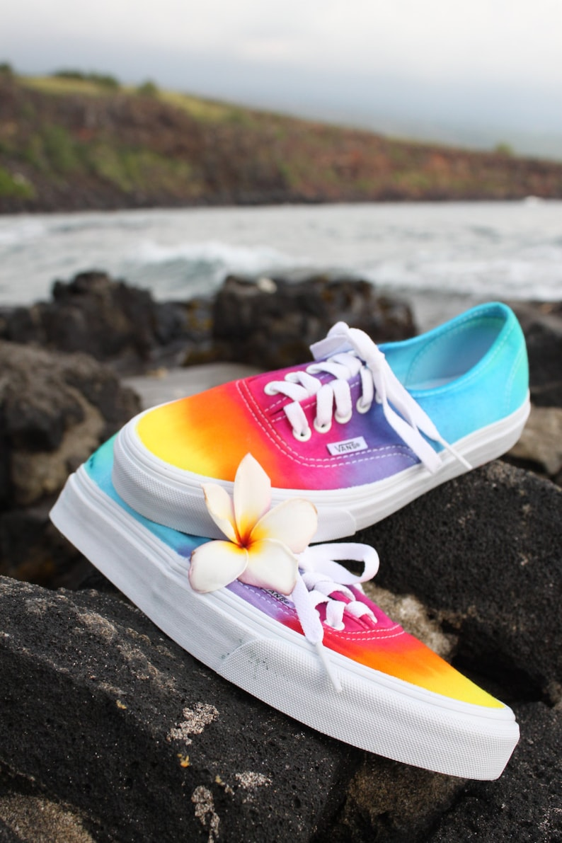 77859c2efdcd SALE The Original Custom Tie Dye Vans Shoes