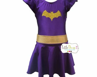 BATGIRL Leotard u0026 Skirt (Child) Costume  sc 1 st  Etsy & Batgirl costume | Etsy