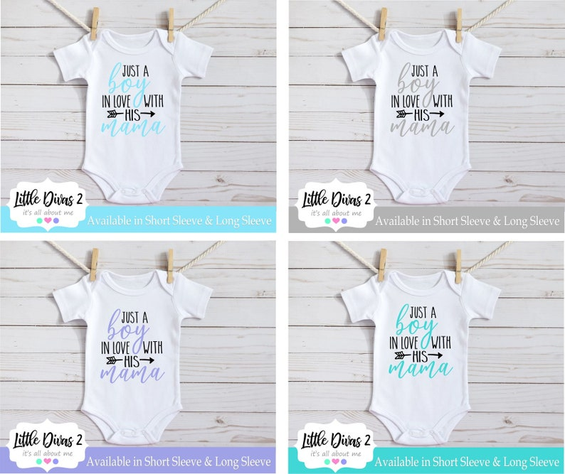 bodysuit great for baby showers...So CUTE! . Just a boy in love with his Mama