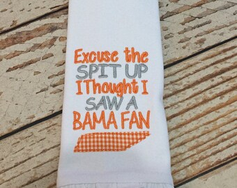huge selection of 7aeb5 a2058 Tennessee Vols burp cloth, Embroidered burp cloth, baby girl gift, tennessee  fan