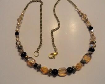 Peach / Light Orange Necklace Adjustable Chain