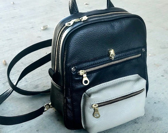 Leather Mini Backpack Backpack in Choice of leathers, Choice of size - Laurel Dasso