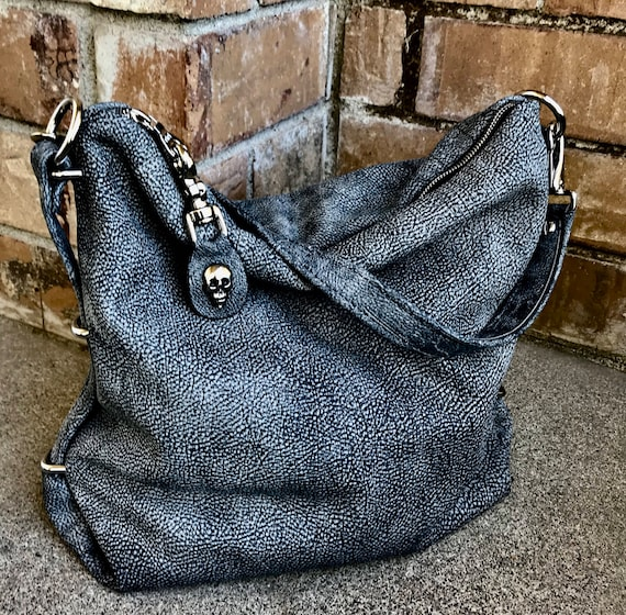 Slouchy Zippered Tote Bag in YOUR CHOICE of leathers - Laurel Dasso