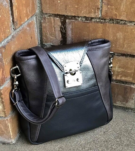 Cross Body leather bag hobo bag in YOUR CHOICE of leathers and CHOICE of straps - Laurel Dasso