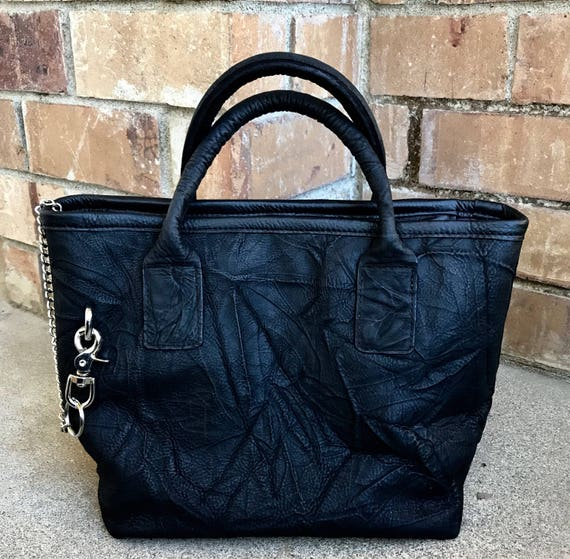 7dbacff55b Black Leather Market Tote