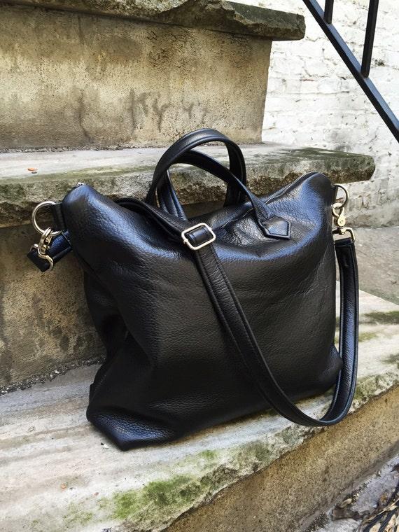 91340226f1 ... Laurel Dasso  14.95 Laptop sized Urban Work Bag Black Leather tote
