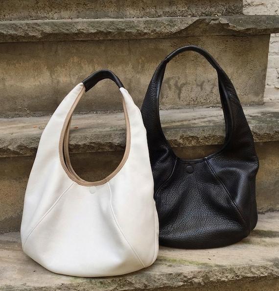 Large Slouchy Hobo - Leather Tote Bag handbag - Laurel Dasso