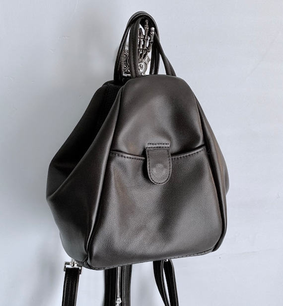 Leather Convertible Backpack in Choice of leathers - Laurel Dasso