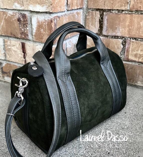Leather Duffel or Exotic Leather Duffel Bag, leather or Arapaima skin duffel, Genuine Alligator duffel - Laurel Dasso