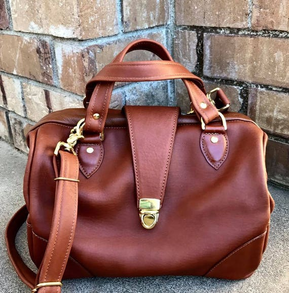 Leather Doctor Bag, Doctor Bag, Canvas Doctor bag,  TWO sizes, in YOUR CHOICE of leathers or Canvas, Framed Bag - Laurel Dasso