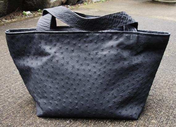 GENUINE Ostrich leather Tote Bag, Triangle bag, Ostrich bag,  - Spectacular - Laurel Dasso