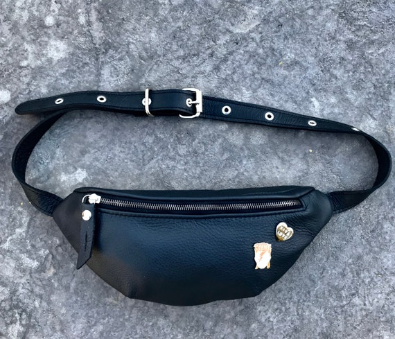 Leather Waist Pack, Festival Bag, Fanny Pack, Crossbody bag, Cross Body Bag in YOUR CHOICE of leather - Laurel Dasso