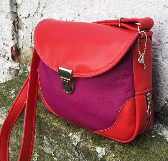 Crossbody Cross Body Expandable Saddle Bag in YOUR CHOICE of leather - Laurel Dasso