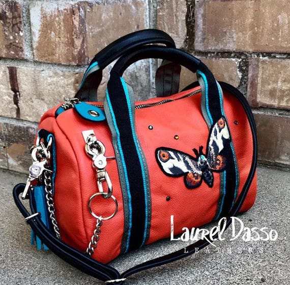 793059ff17 Monsters Series Tiny Duffel Bags Leather or Waxed Canvas and