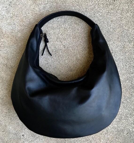 Leather Hobo Bag Minimalist Hobo Bag - Leather Tote Bag handbag - Laurel Dasso