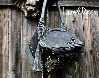 Leather Messenger bag, Slouchy Messenger, leather tote - Laurel Dasso