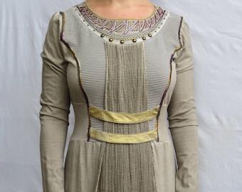 Fancy Khaki Dress