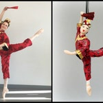 Chinese Ballerina Dancer Ornament from The Nutcracker CUSTOMIZED to your costume Hand Sculpted in Clay