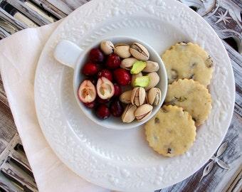 Gourmet Cranberry Pistachio Butter Cookies (12 Count)