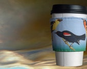 Nuttail's Starling, Yellow-headed Troopial, Bullock's Oriel - Fabric Coffee Sleeve