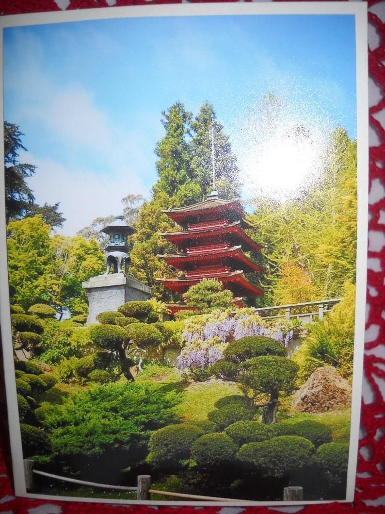 japanese tea garden photo cards  etsy