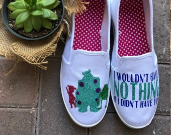 9407665900a0 Monsters Inc Shoes  Disney Shoes  Monsters Inc.  Custom Shoes