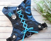 Fancy Denim Corset Harness for Dogs Cats and Pets