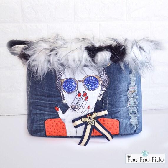 8d238b4dd26f Dog Carrier Bag Designer Dog Bag Fancy Dog Purse Pet | Etsy