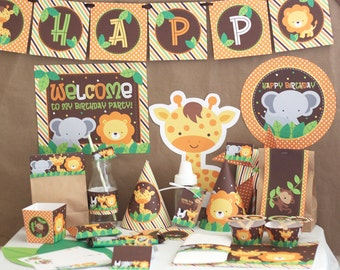 Jungle Safari Birthday Party Decorations Printable