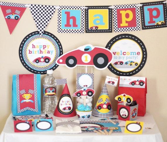 Race Car Birthday Party Decorations Race Car Birthday Party