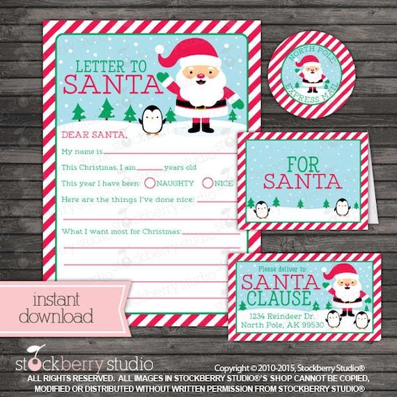 letter to santa christmas printables kids christmas wish list