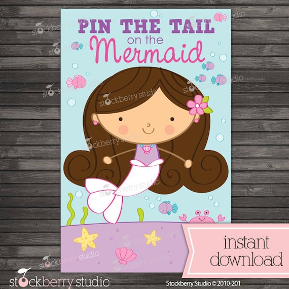 Pin The Tail On The Mermaid Printable