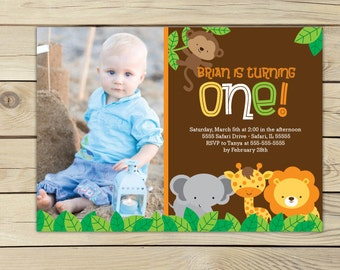Jungle Birthday Invitation Printable - Jungle Party - Safari Invitation - Safari Party - Safari Birthday Invitation - Jungle Invitation