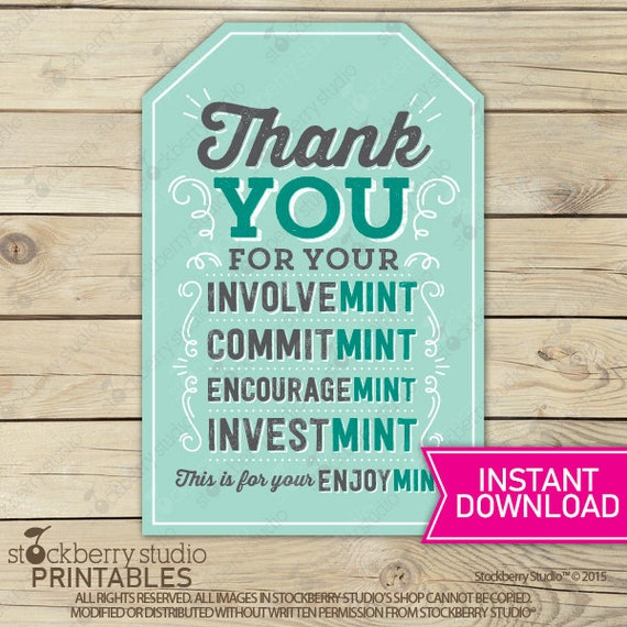 photo about Thank You for Your Commit Mint Free Printable known as Thank On your own Tags Printable - Mint Present Tag - Volunteer Reward Tag - Quick Down load - Mint Labels - Thank Oneself Present - Staff members Reward Appreciation