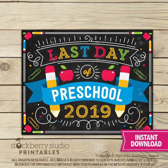 photo relating to Last Day of Preschool Sign Printable referred to as Ultimate Working day of Preschool Signal Immediate Obtain - Previous Working day of Pre college or university Signal Printable - Final Working day of College or university Indication - Remaining Working day of Pre-College Signal