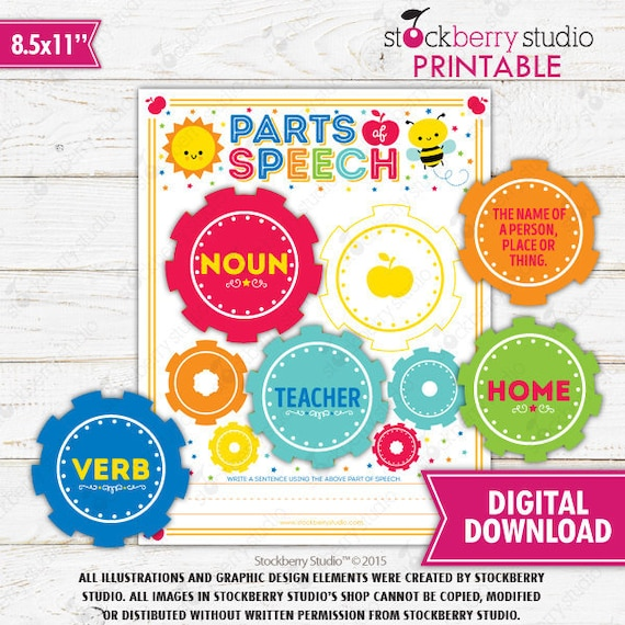 Parts Of Speech Game Grammar 1st Grade Language Arts Printable Sentence  Reading Worksheet Learn To Read Homeschool Activity Instant Download By  Stockberry Studio Catch My Party