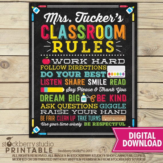 It's just a graphic of Classroom Rules Printable inside grade 2