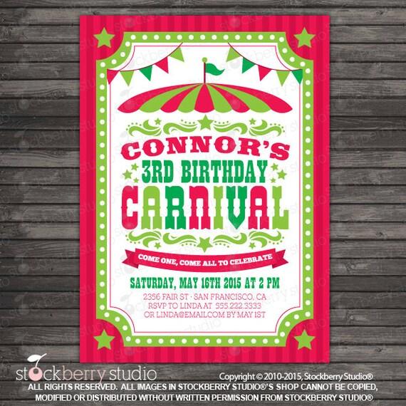 Christmas Carnival Invitation Printable Christmas Festival