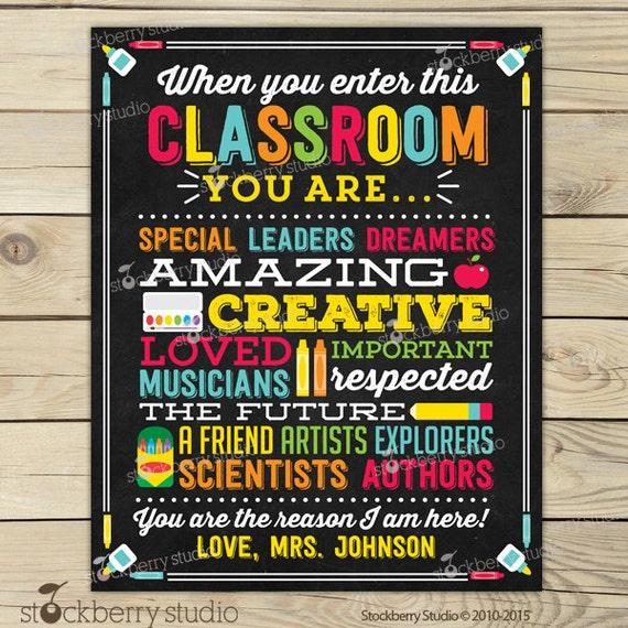 Teacher Classroom Decor Personalized Teacher Sign Etsy