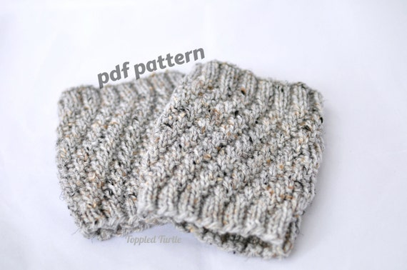 Pattern The Twist Knit Boot Cuff Pattern Knit Cuff Pattern Etsy