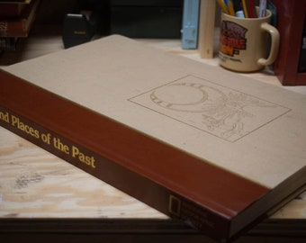 Peoples and Places of the Past - A National Geographic Society Publication - Large Vintage Coffee Table Book