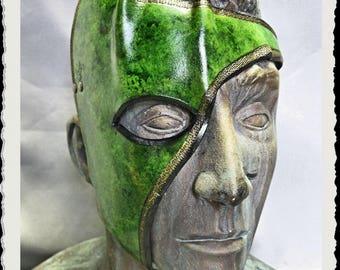 Leather half mask - Wenya -