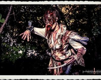 Wild Plague Doctor leather mask - Pestarzt - Steampunk
