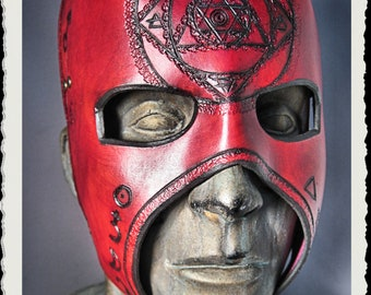Red leather mask - Alchemist -