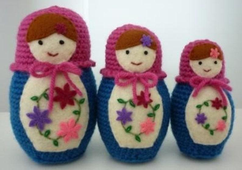 Russian Matryoshka Babushka Doll Trio Crochet Pattern   Etsy